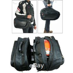 1 Pair 36-58L Motorcycle Saddle Bags Luggage Helmet Tank Bags with Rain Cover