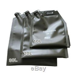 10L 20L 30L Car SUV Motorcycle ATV Folding Oil Bag Spare Gas Fuel Tank Jerry Can