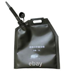 10L Folding Oil Bag Spare Gas Fuel Tank Jerry Can Container Auto Car Motorcycle