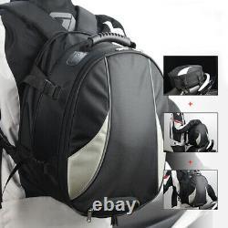 1Multi-function Motorcycle Dirt Bike Tail Bag Fuel Tank Storage Rider Backpack