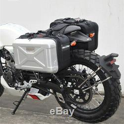1Pair 30L Motorcycle Side Case Luggage Tank Cargo Tail Box Saddle Bag Waterproof