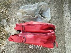 2 x Red Baglux Bagster Motorcycle Tank Bags & Rain Cover