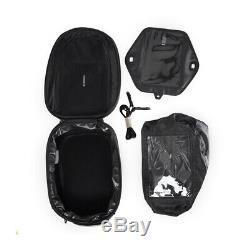 23L Black Motorcycle Fuel Tank Bag Hard Shell Shoulder Bag Backpack Accessories