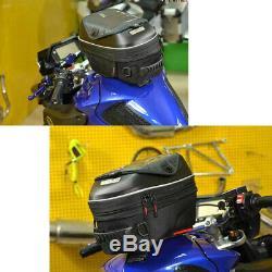 23L Black Motorcycle Release Buckle Fuel Tank Bag Hard Shell Shoulder Backpack