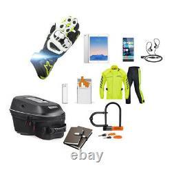 23L Carbon fiber Black Motorcycle Fuel Tank Bag Hard Shell Shoulder Bag Backpack