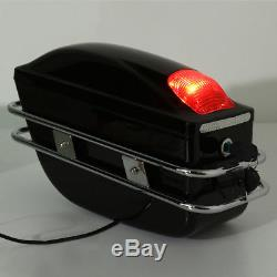 2PCS Motorcycle Side Box Saddle Bags Tank Tail Case For Honda Yamaha Suzuki