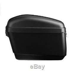 2Pcs Motorcycle Side Box Luggage Tank Case Saddle Bag For Cruiser Honda Suzuki