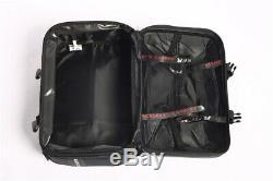 2X Silver White Saddle Bag Motorcycle Side Case Luggage Tank Box Touring Topcase