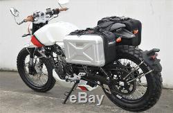 2x 30L Motorcycle Side Case Luggage Tank Cargo Tail Box Saddle Bag Waterproof &