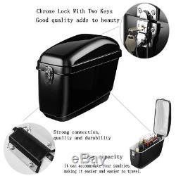 30L Motorcycle Side Box Luggage Tank Hard Case Saddle Bag Cruiser Gloss Black