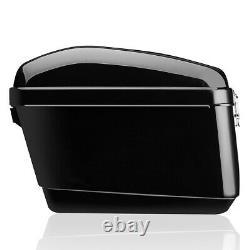30L Motorcycle Side Box Luggage Tank Hard Case Saddle Bag Panniers Glossy Black