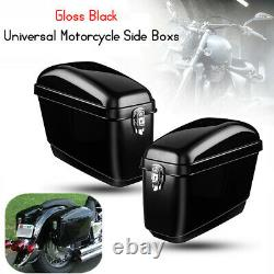 30L Motorcycle Side Box Luggage Tank Hard Case Saddle Bag Panniers Universal
