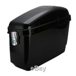 30L Motorcycle Side Box, Pannier Luggage Tank Hard Case Saddle Bag Black