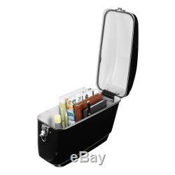 30L Motorcycle Side Box Pannier Luggage Tank Hard Case Saddle Bag Cruiser Black