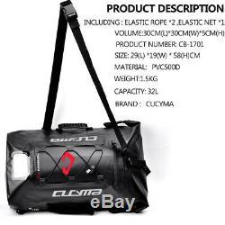 36-55L Motorcycle Backpack Motorbike Helmet Tank Bag 100% Waterproof PVC Luggage
