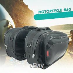 36-58L 6KG Motorcycle Saddle Bags Luggage Helmet Tank withBands&Waterproof Cover