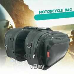 36-58L Durable Universal Motorcycle Saddle Bag Luggage Helmet Tank WithRain Cover&