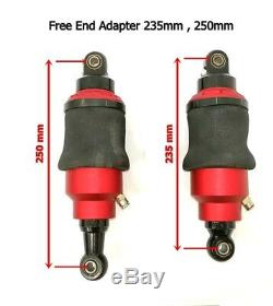 Air Ride shock 235-250 mm Bag Suspension kit for Motorcycle WithAir Tank 2.1 Litre