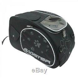 Bagster Puppy Motorcycle Motorbike Tank Bag Dog Cat with Shoulder Strap Black