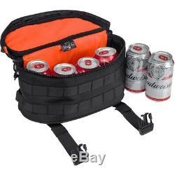 Biltwell 3001-01 EXFIL-7 Black / Orange Luggage Cooler Bag for Motorcycle Travel