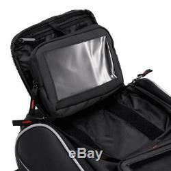 Black Motorcycle Oil Fuel Tank Bag Waterproof Shoulder Travel Riding Storage Bag