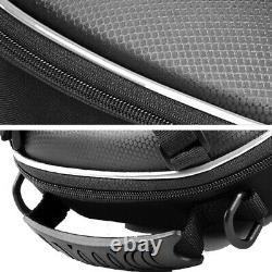 Black Motorcycle Quick Release Buckle Fuel Tank Bag Hard Shell Shoulder Backpack