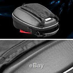Black Motorcycle Release Buckle Fuel Tank Bag Hard Shell Shoulder Bag Backpack