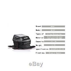 Black Motorcycle Tank Bag Magnetic Oil Fuel Tank Bags Waterproof Bag For Honda