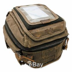 Burly Brand Voyager Waxed Motorcycle Canvas Tank/Tail Bag