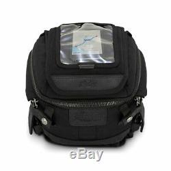 Burly Moto Motorbike Motorcycle Tank / Tail Bag Black