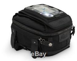 Burly Voyager Tank Tail Bag UV Treated Canvas Harley Motorcycles Custom Black