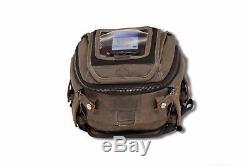 Burly Voyager Tank Tail Bag UV Treated Dark Oak Canvas Harley Motorcycles Custom