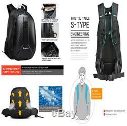 Carbon Fiber Style Motorcycle Backpack Helmet Tank Bag Luggage Large Capacity &