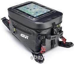 GIVI 20 Liter Gravel-T Waterproof Motorcycle Tankbag with Phone/GPS Pocket GRT715