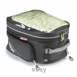 Givi EA117 26 Litre Motorcycle Tank Bag & BF02 Tank Ring Flange Black