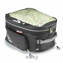 Givi EA117 26 Litre Motorcycle Tank Bag & BF17 Tank Ring Flange Black