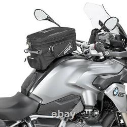 Givi EA118 25 Litre Motorcycle Tank Bag & BF11 Tank Ring Flange Black