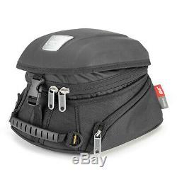 Givi MT505 5 Litre Motorcycle Motorbike Tank Bag & BF01 Tank Ring Flange- Black