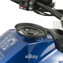 Givi MT505 5 Litre Motorcycle Motorbike Tank Bag & BF02 Tank Ring Flange- Black
