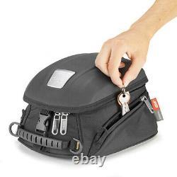 Givi MT505 5 Litre Motorcycle Motorbike Tank Bag & BF04 Tank Ring Flange- Black