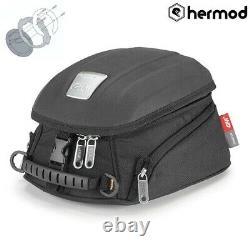 Givi MT505 5 Litre Motorcycle Motorbike Tank Bag & BF33 Tank Ring Flange- Black