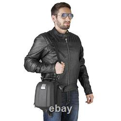 Givi MT505 5 Litre Motorcycle Motorbike Tank Bag & BF39 Tank Ring Flange- Black