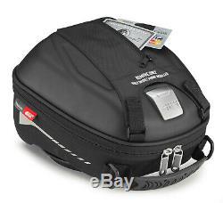 Givi ST602B 5 Litre Motorcycle Motorbike Tank Bag & BF01 Tank Ring Flange Black