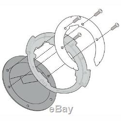 Givi ST602B 5 Litre Motorcycle Motorbike Tank Bag & BF03 Tank Ring Flange Black