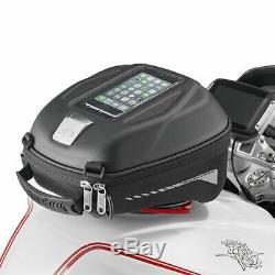 Givi ST602B 5 Litre Motorcycle Motorbike Tank Bag & BF17 Tank Ring Flange Black