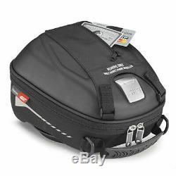 Givi ST602B 5 Litre Motorcycle Motorbike Tank Bag & BF22 Tank Ring Flange Black