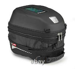 Givi ST603B 15 Litre Motorcycle Tank Bag & BF01 Tank Ring Flange Black