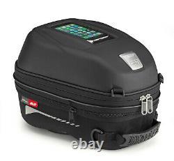 Givi ST603B 15 Litre Motorcycle Tank Bag & BF02 Tank Ring Flange Black