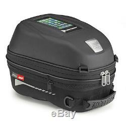 Givi ST603B 15 Litre Motorcycle Tank Bag & BF03 Tank Ring Flange Black
