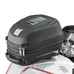 Givi ST603B 15 Litre Motorcycle Tank Bag & BF04 Tank Ring Flange Black